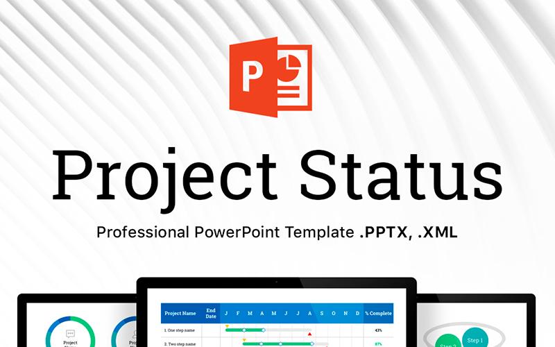Status projektu - profesjonalny szablon PowerPoint