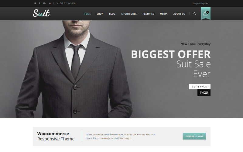 Suit - Men's Fashion WooCommerce Teması
