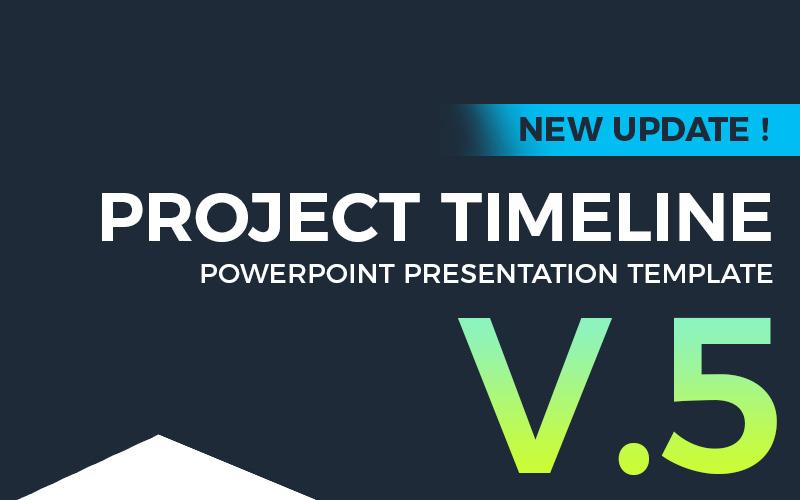 Oś czasu projektu v5 - szablon programu PowerPoint