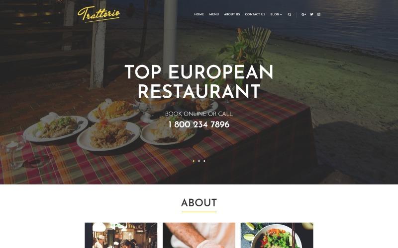 Trattorio - тема WordPress для ресторана Elementor