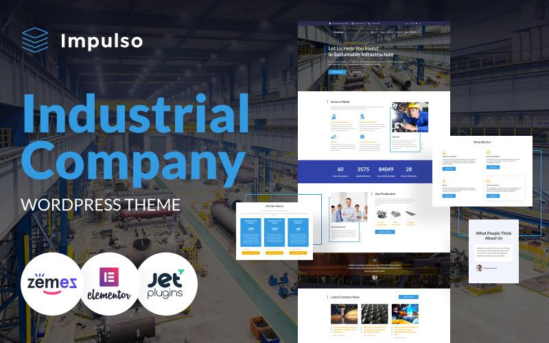 Impulso - Thème WordPress Elementor pour entreprise industrielle