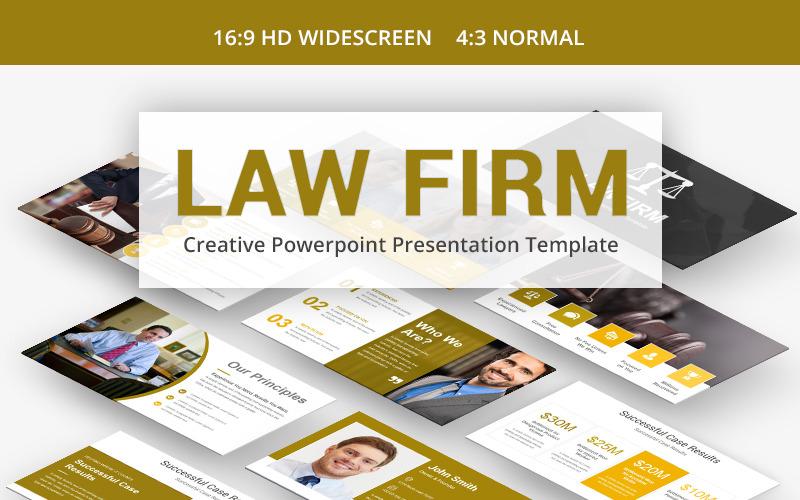 Szablon PowerPoint firmy prawniczej