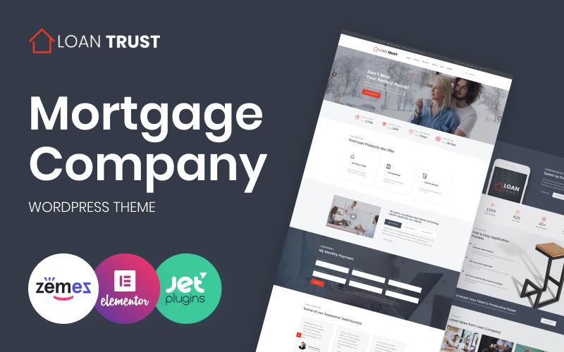 Loan Trust - hypoteční společnost WordPress Elementor Theme