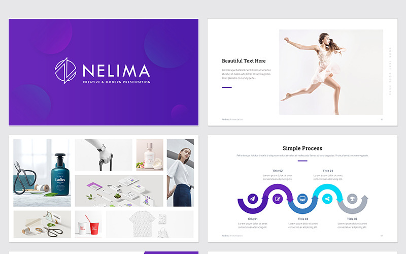 NELIMA - Moderní a minimální prezentace PowerPoint šablony