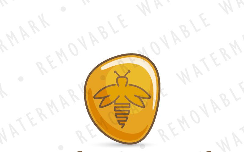 Шаблон логотипа драгоценного камня янтарного жука