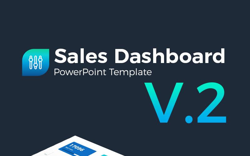 Шаблон презентации PowerPoint для панели управления продаж