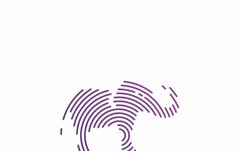 Слон - шаблон логотипа