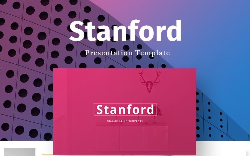 Modèle PowerPoint de présentation créative de Stanford