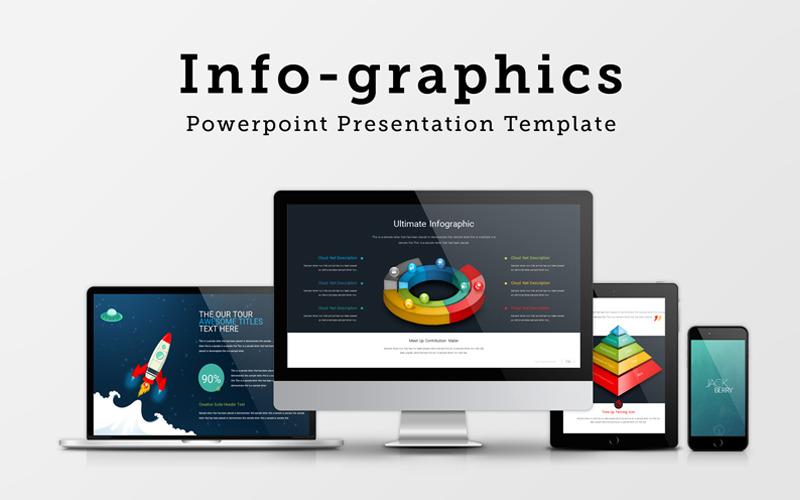 Szablon prezentacji PowerPoint infografiki