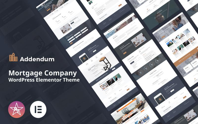 Addendum - Thème WordPress Elementor pour les sociétés hypothécaires