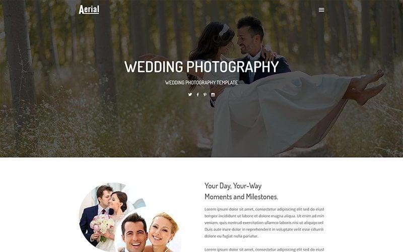 Aerial - Modèle de site Web de photographie de mariage