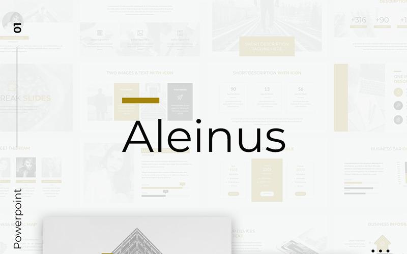 Aleinus - Creative Minimal Presentation PowerPoint Template