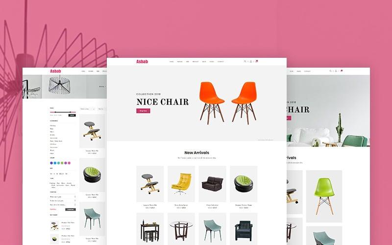 Asbab - Modello di sito Web eCommerce