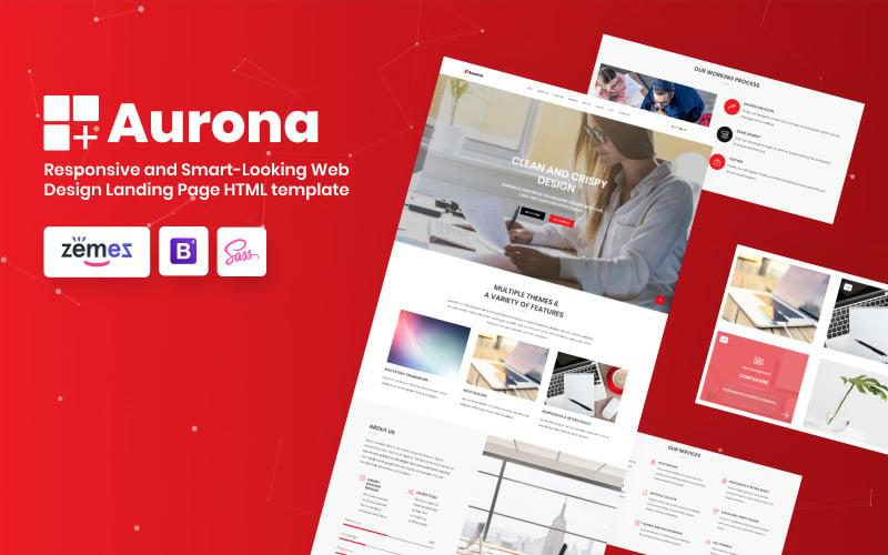 Aurona - Šablona cílové stránky HTML reagující na podnikání