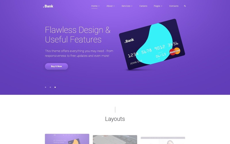 .Bank - Modello di sito Web Bootstrap 4 multipagina finanziario e bancario