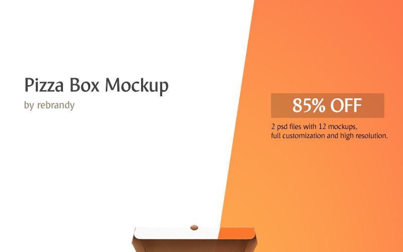 Коробка для пиццы - Мокап продукта