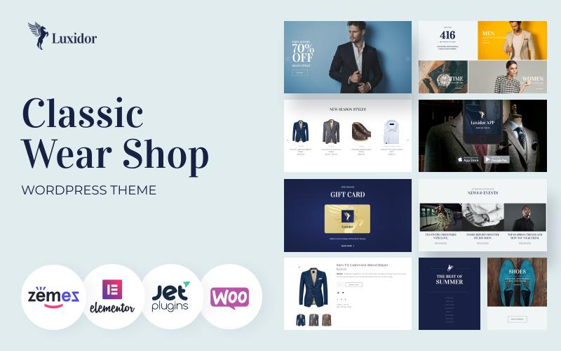 Luxidor - Tema de WooCommerce de Elementor de moda de accesorios y ropa
