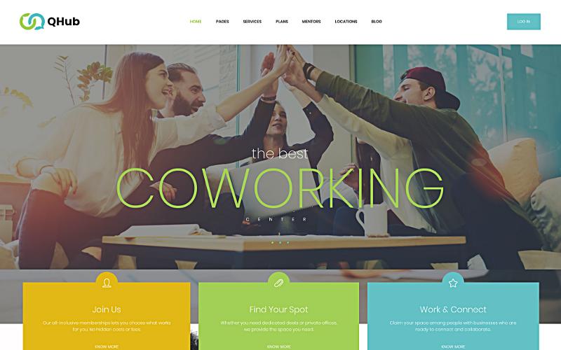 Qhub - Tema de WordPress para espacios de oficina y coworking
