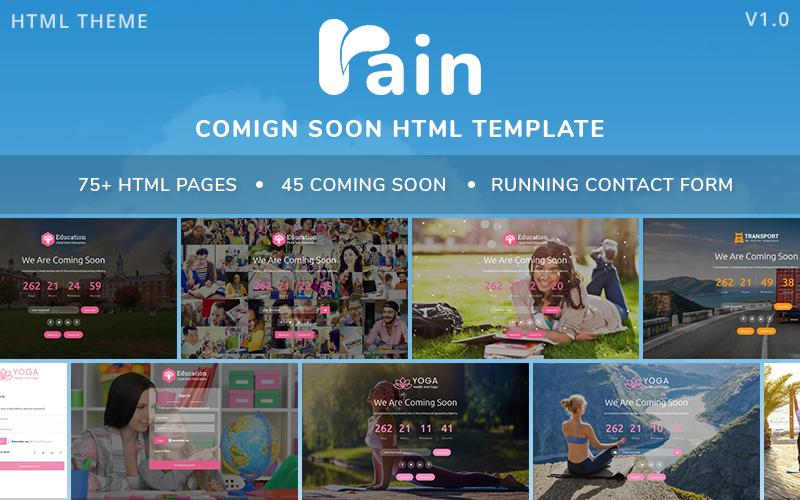 RAIN - Çok Yakında Html Duyarlı Özel Sayfa