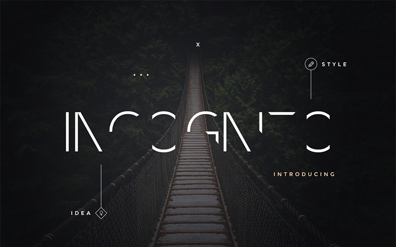 Incognito  Pack Font