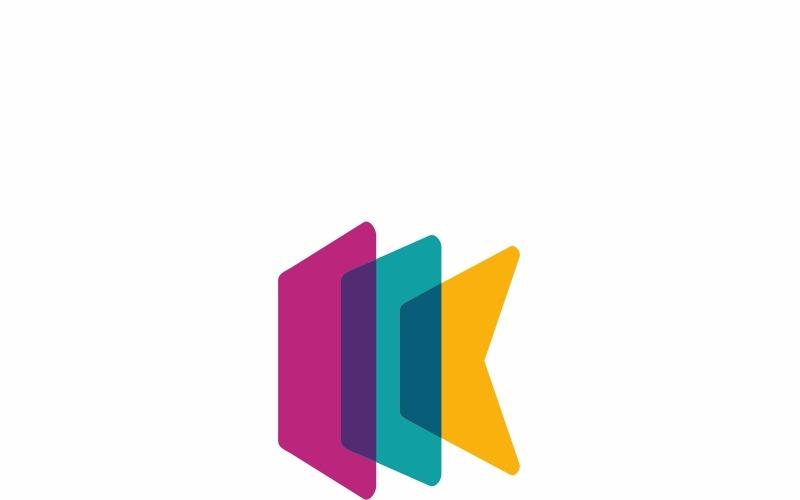 Шаблон логотипа письмо Kinetiko K