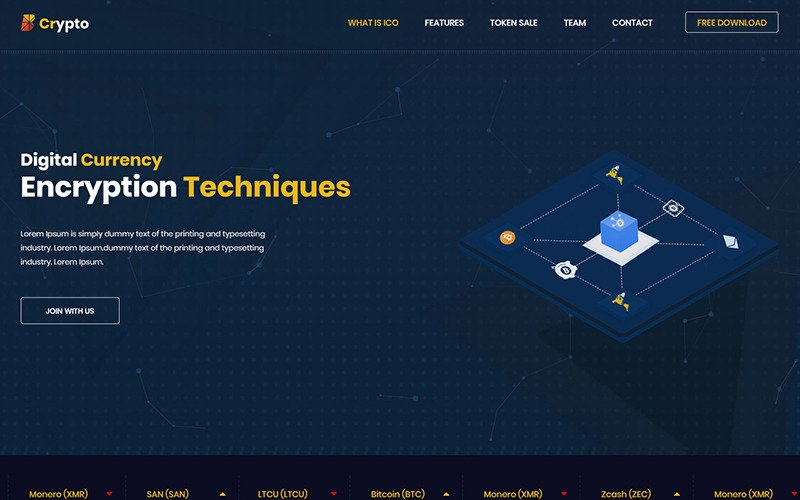 BCrypto - ICO, Bitcoin and Cryptocurrency Website Template