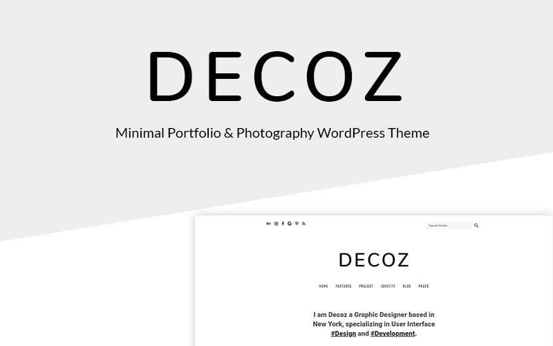 Decoz - Minimal Portfolio & Photography WordPress Theme