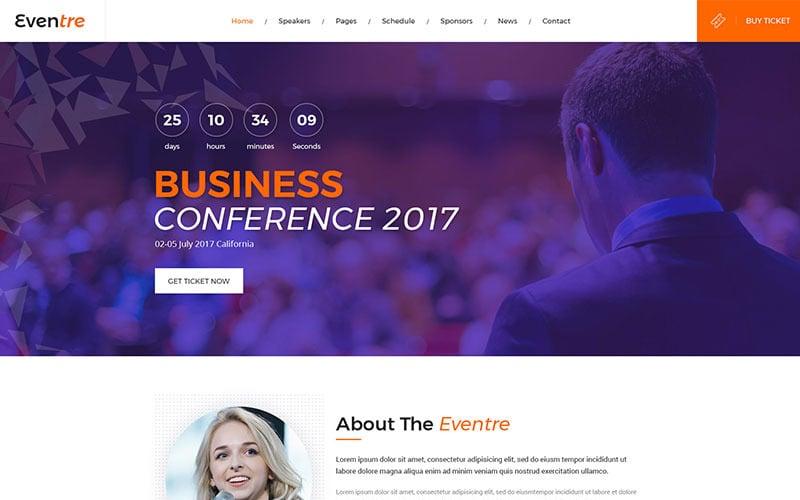 Eventre Website Template