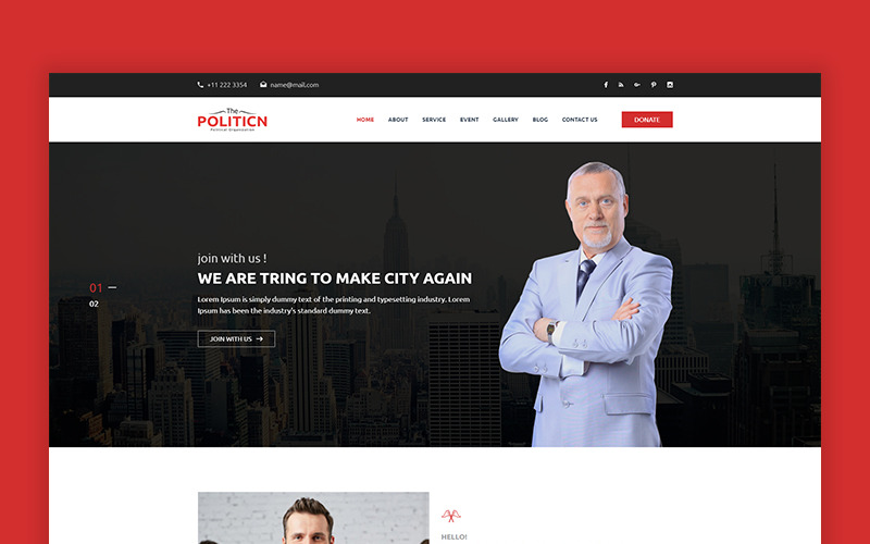 The-Politicn - Political Website Template