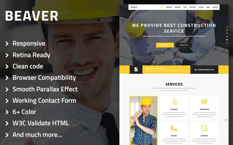 Beaver - Plantilla de página de destino multipropósito de construcción, arquitectura y edificación