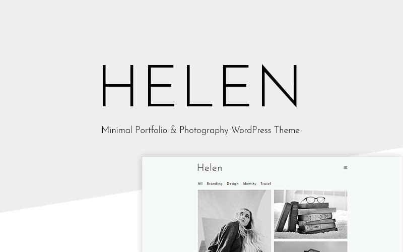 Helen - Minsta portfölj & fotografi WordPress-tema