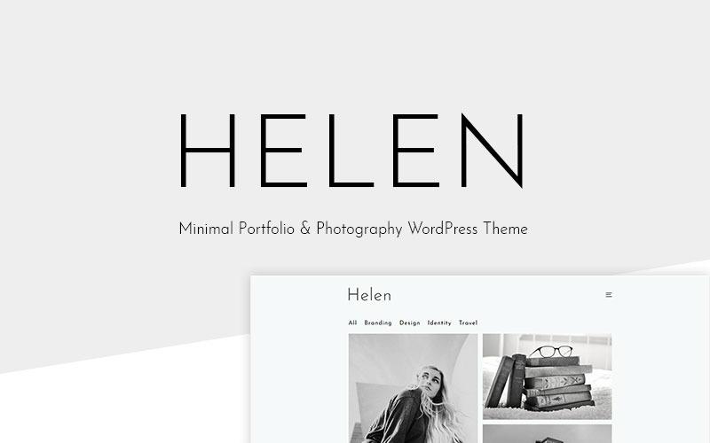 Helen - тема WordPress с минимальным портфолио и фотографией