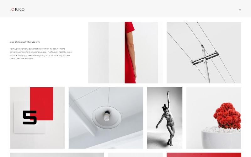 .OKOO - Modèle Joomla de portfolio de photographe