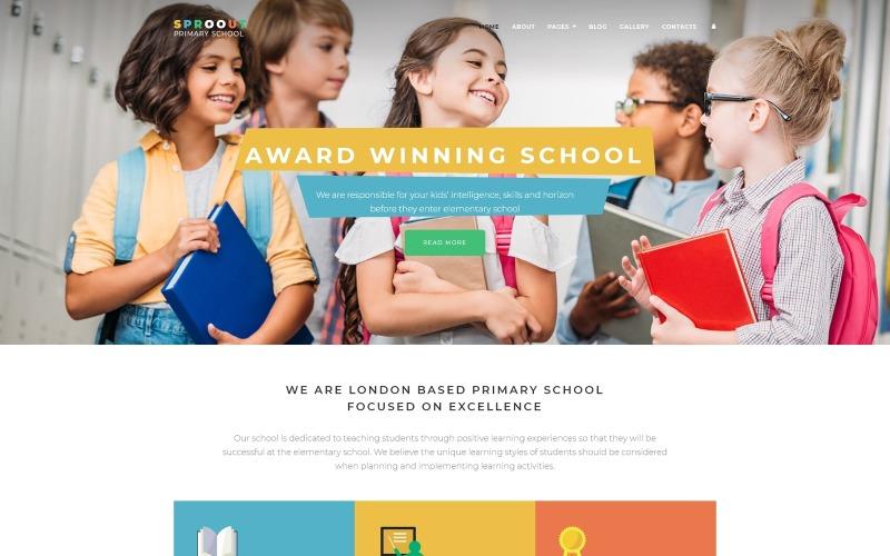 Sproout - Plantilla Joomla moderna para escuela primaria