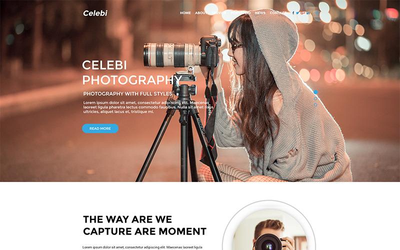 Celebi - Professionell fotograferingswebbplats PSD-mall