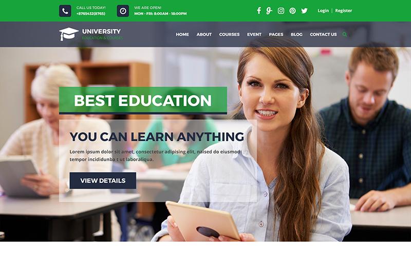 Universidad - Plantilla PSD para educación, curso y universidad