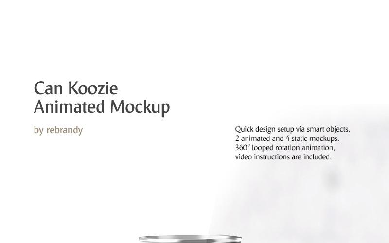Анимированный макет продукта Can Koozie