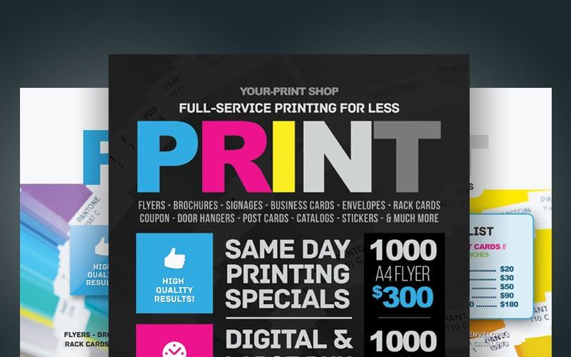 Print Shop Flyer - Corporate Identity Template