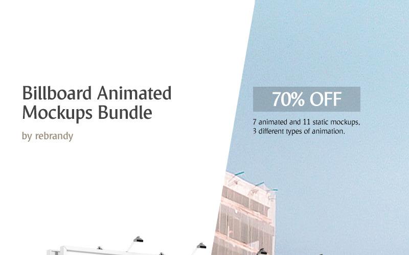 Pacchetto mockup animati Billboard