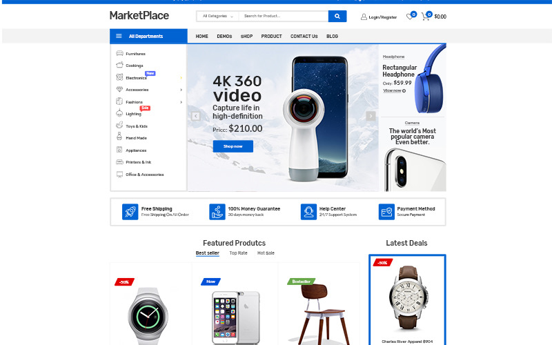 Tema WooCommerce di Market Place