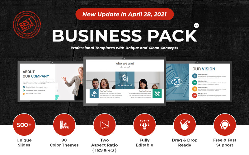 Business Pack PowerPoint-presentatiesjabloon