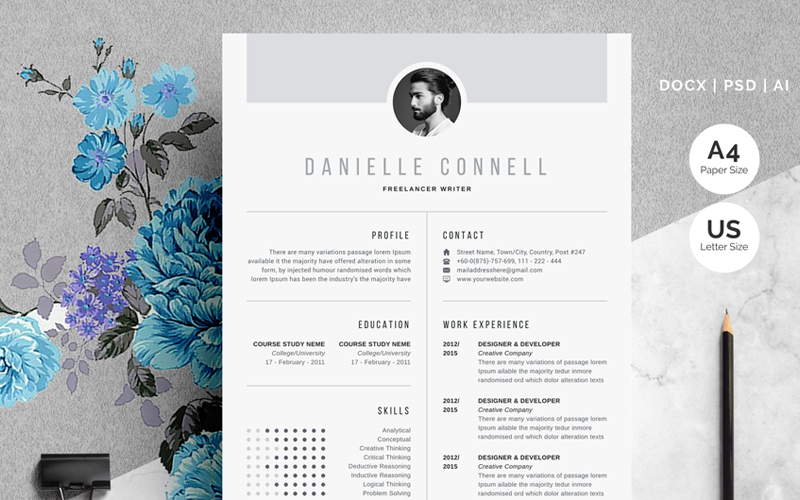 Danielle Connell_Creative Resume Template