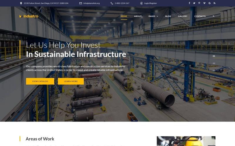 Industro - Modèle Joomla pour entreprise industrielle