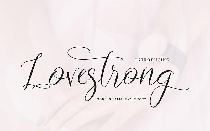 Lovestrong Cursive Font