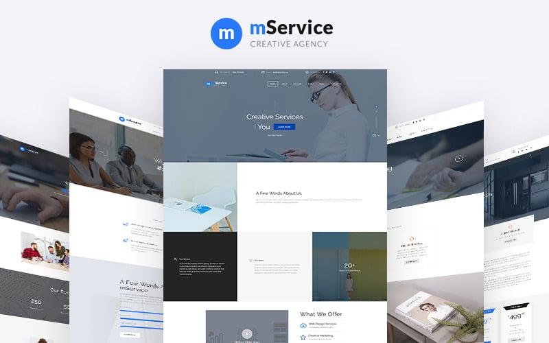 Mservice - Elegante modello di sito web multipagina per agenzia creativa