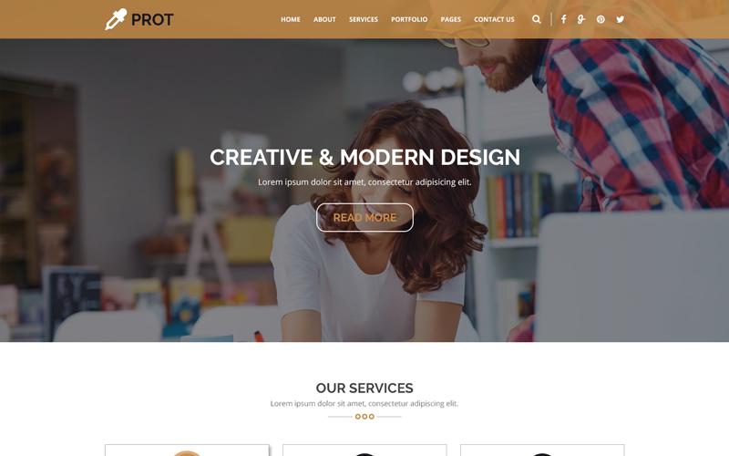 PROT - Plantilla PSD de Agencia Creativa