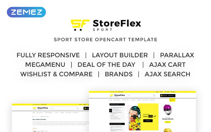 Storeflex Sports Shop Opencart Template 69499