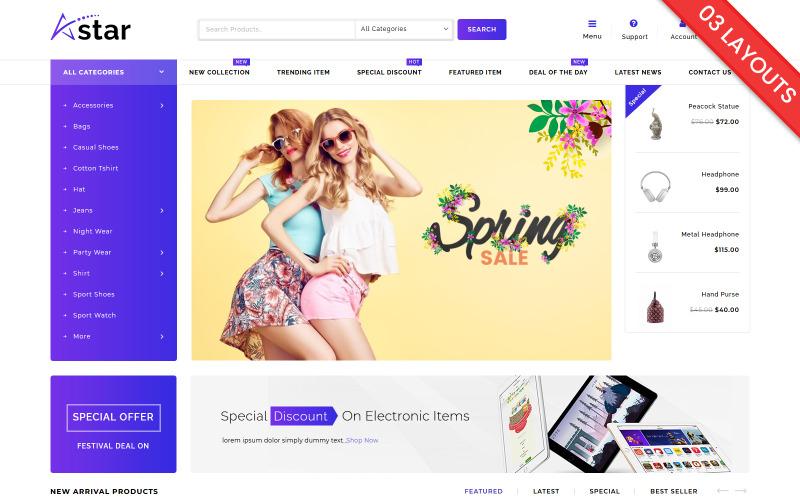A-Star Fashion Multipurpose WooCommerce Theme