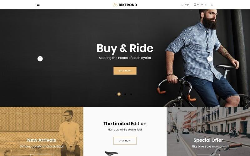 Bikerond - Bike Shop Elementor WooCommerce Theme