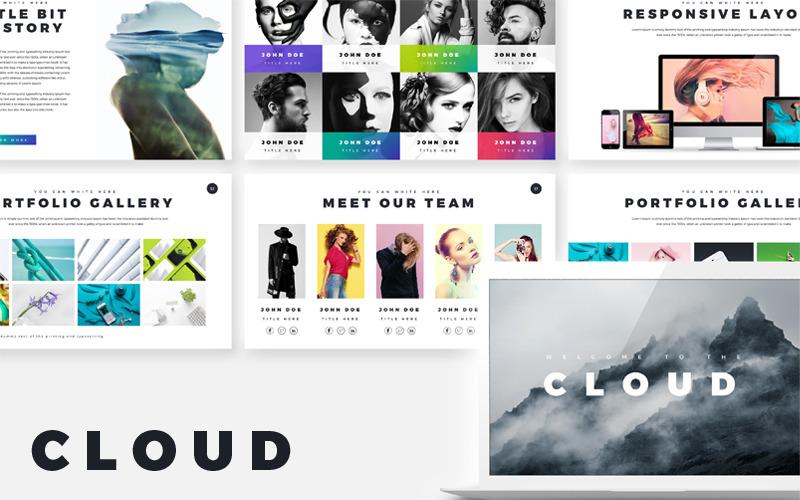 Cloud creative presentation PowerPoint template